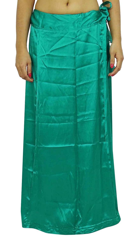 Satin Silk Saree Petticoat Underskirt Bollywood Indian Lining For Sari ibaexports PTC3F