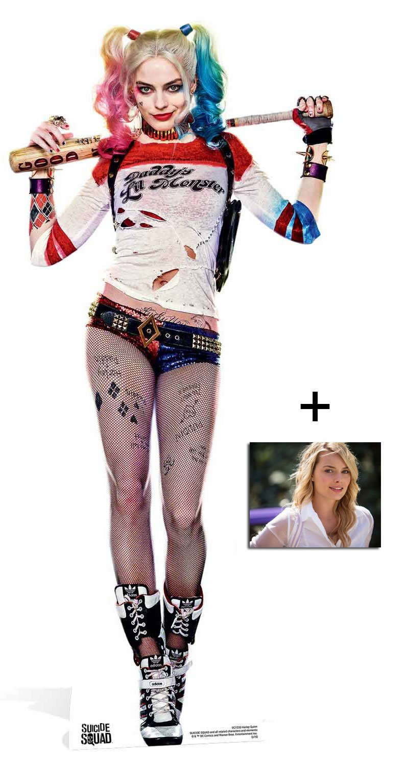 Fan Pack - Harley Quinn Margot Robbie Suicide Squad Movie Lifesize Cardboard Cutout / Standee / Stand Up - Includes 8x10 Star Photo