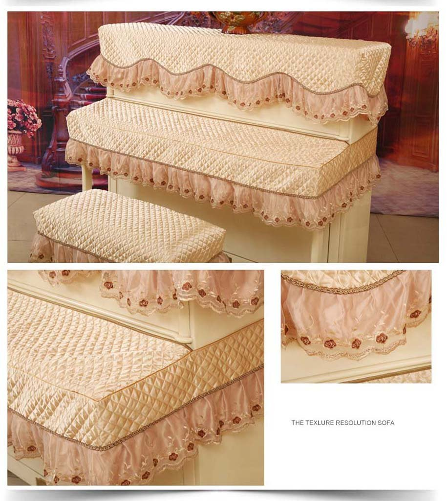 Amazon.com: European Piano Cover, Half Cover, Lace Fabric ...
