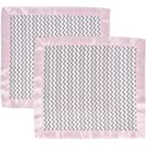 MiracleWare Muslin Security Blanket, Pink and Gray Chevron, 2 Pack