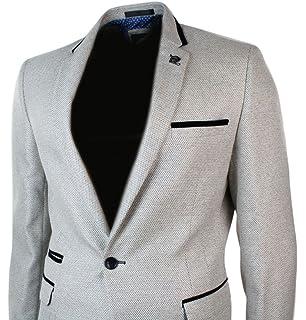 81de13637635 Veste homme tissu style tweed marron clair avec empiècement coude ...