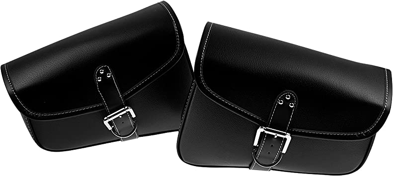INNOGLOW Motorcycle Waterproof Saddle bags Side Bags PU Leather for Harley Sportster XL XL883 XL1200