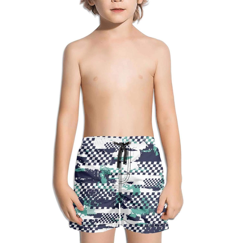 uejnnbc Squares Checkerboard Abstract Grunge Urban Elastic Core Quick Dry Swim Shorts