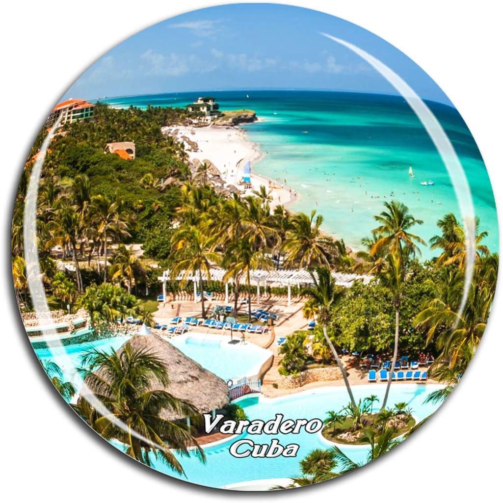 Varadero Beach Cuba Caribbean Sea Fridge Magnet 3D Crystal Glass Tourist City Travel Souvenir Collection Gift Strong Refrigerator Sticker