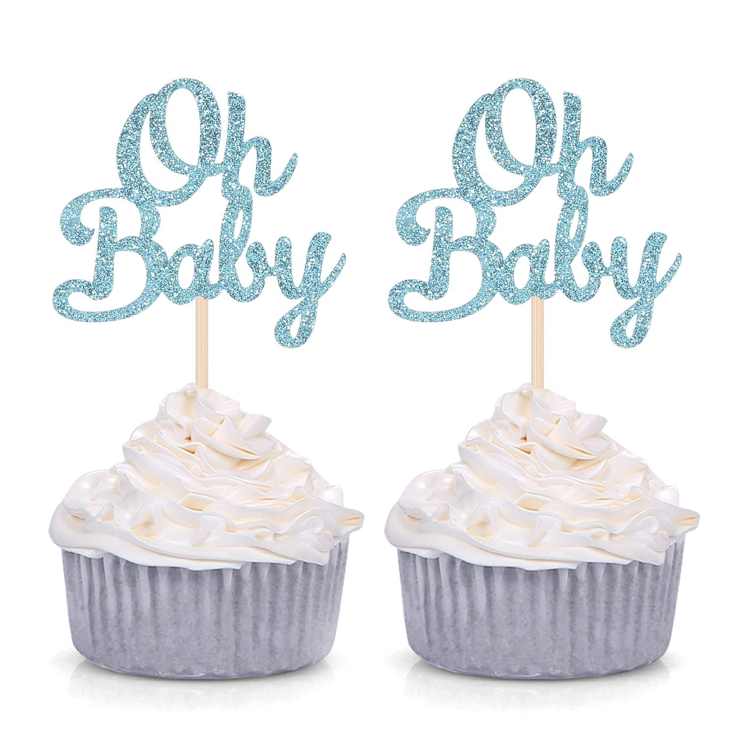 6 4 1 5 Glitter 9 Qty 12 2 Age Cupcake Toppers 8 Boy Birthday 7 3