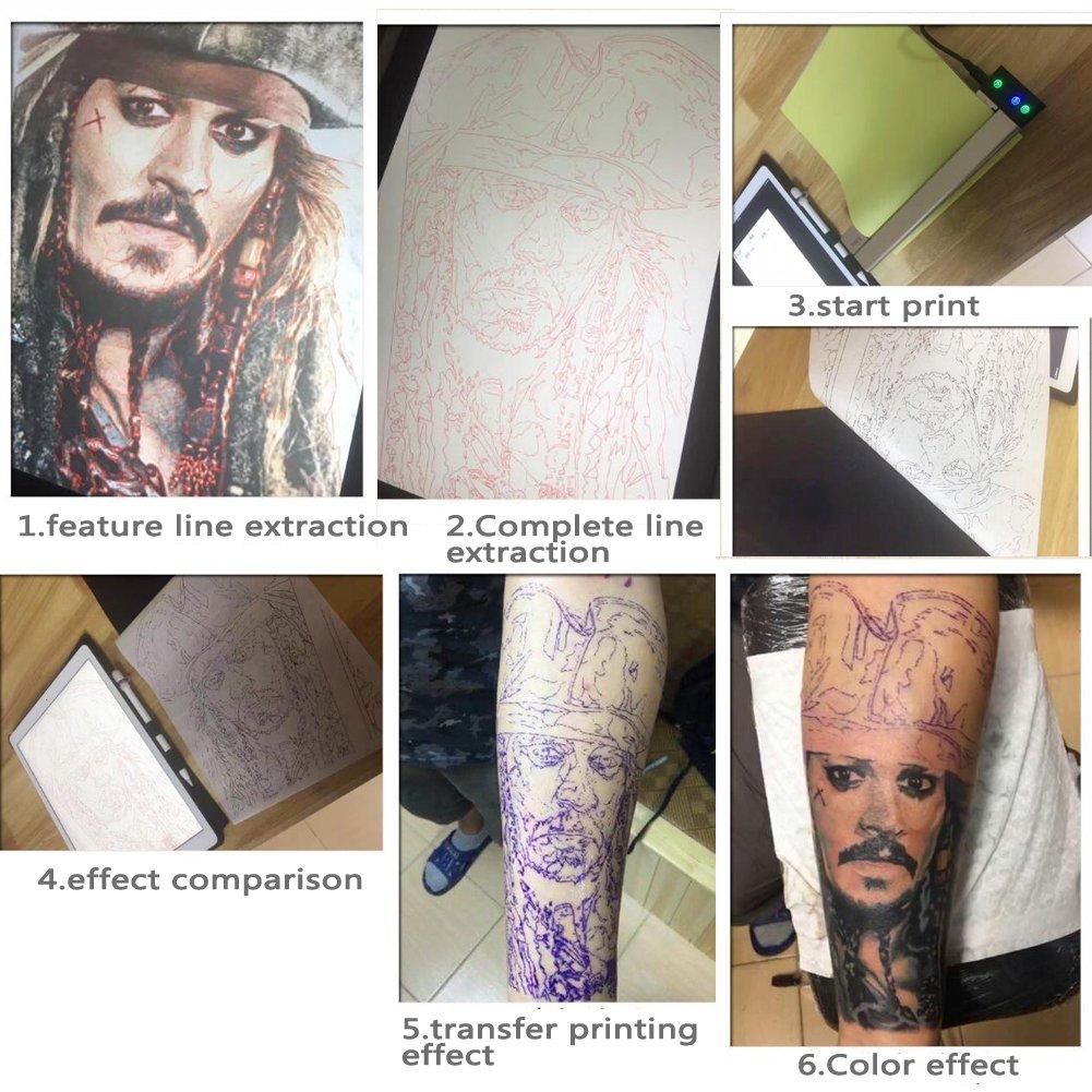 Amazon.com: Portátil tatuaje, plantilla de transferencia ...