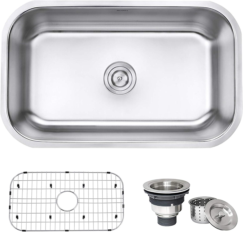 Home Architec Ideas 16 Gauge Stainless Steel Undermount Kitchen Sinks