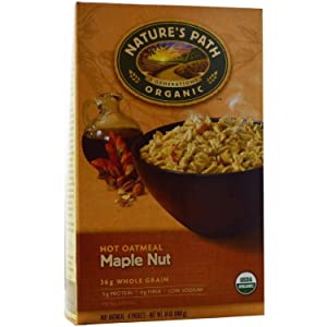 Nature's Path Organic Maple Nut Oatmeal 14 Oz. 8 Packets (2 Pack)