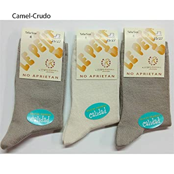 Rodfer - Pack 3 pares Calcetines Hilo Infantil 333 - Talla 2 - Pack Celeste/Crudo/Camel: Amazon.es: Hogar