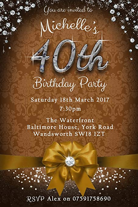 40th Birthday Party Invitations Envelopes