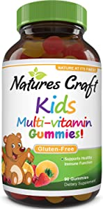 Multivitamin For Kids Gummy with Vitamin D - Natural Gummy Vitamins for Kids Toddlers Teens with Vitamin C Immune System Booster - Chewable Kids Multivitamin for Growth - Gluten Free Childrens Vitamin