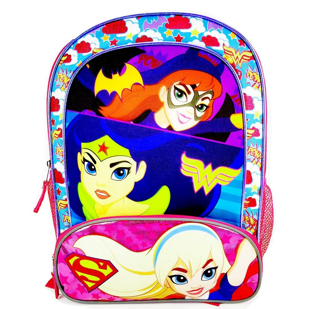 DC Comics Super Hero Girls Batgirl、Wonder Women and Supergirlバックパック B01HU9FJJ0