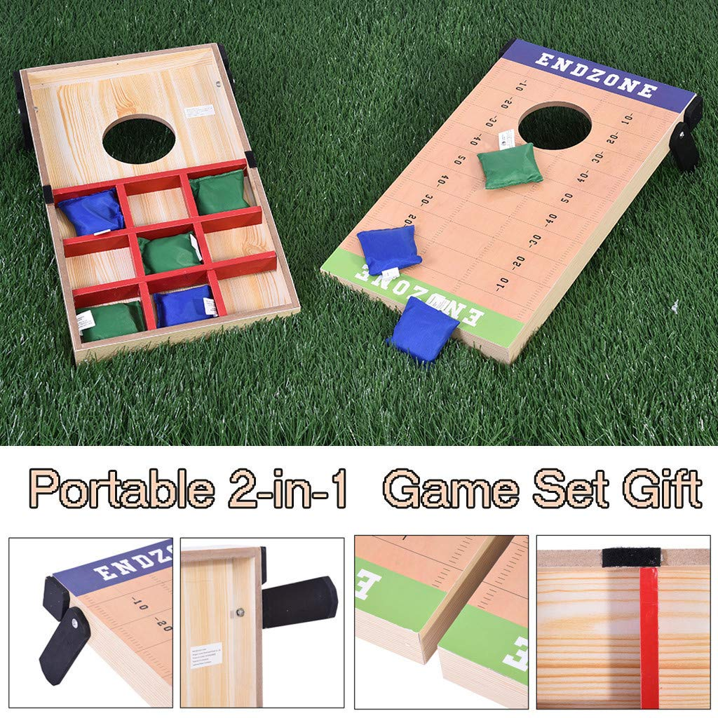 Chranto Lucky 7 !!Father's Day Portable 2-in-1 Cornhole Bean Bag Toss Game and Tic Tac Toe Game Set  Gift by Chranto toy (Image #3)