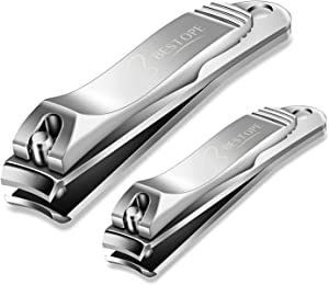 BESTOPE Nail Clipper Set Sharp Fingernail Clippers Toenail Clippers Nail Cutter Stainless Steel Sturdy Nail Trimmer for Men and Women