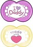 MAM Babyartikel 67637600 Original Silikon I love Daddy, girl, 6-16 Monate, Doppelpack (sortierte Motive)