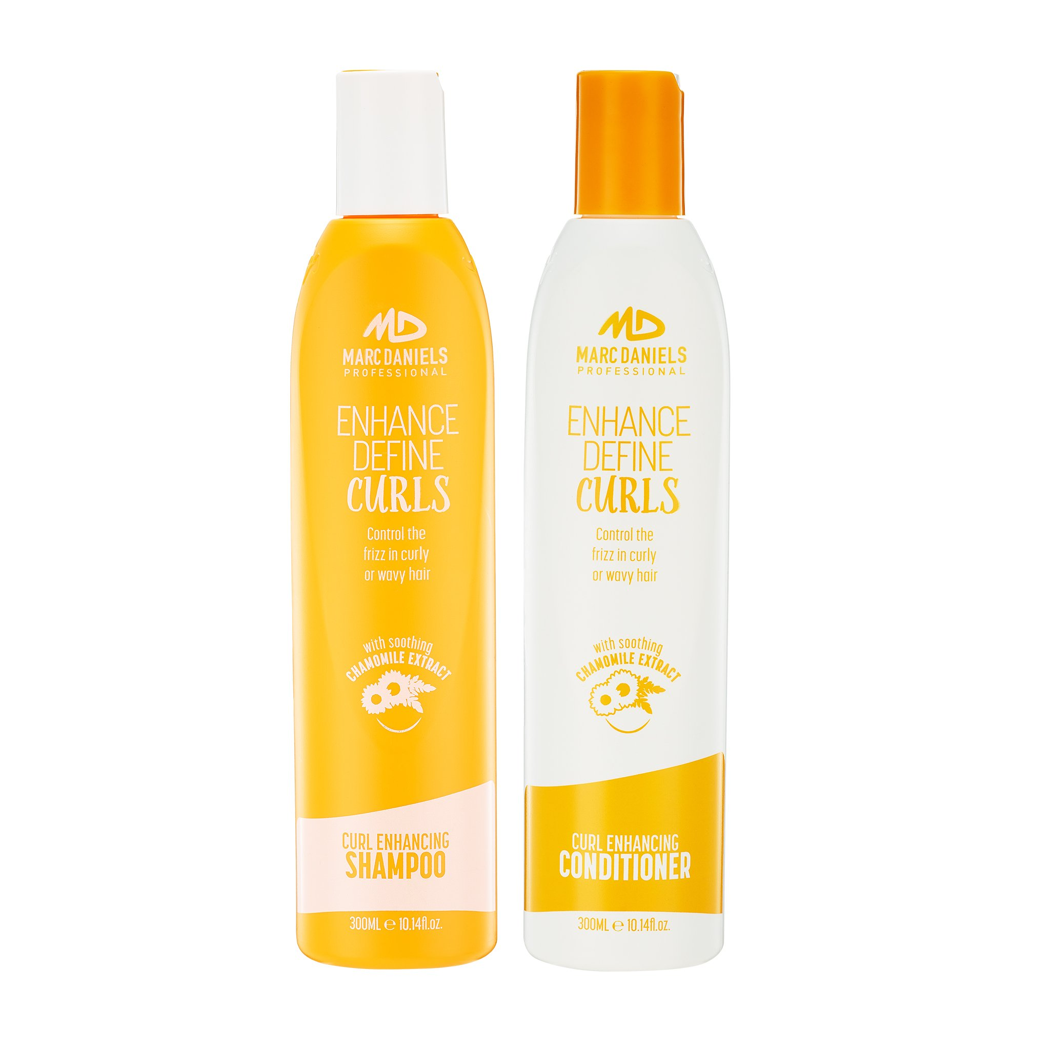 Perfect Curls Shampoo & Conditioner Set, Sulfate Free for Curly Hair, Anti-Frizz, Hydrating Adds Bounce & Shine - ProVitamin B5 Repairs Dry, Color Treated Hair by MARC DANIELS Professional by MARC DANIELS