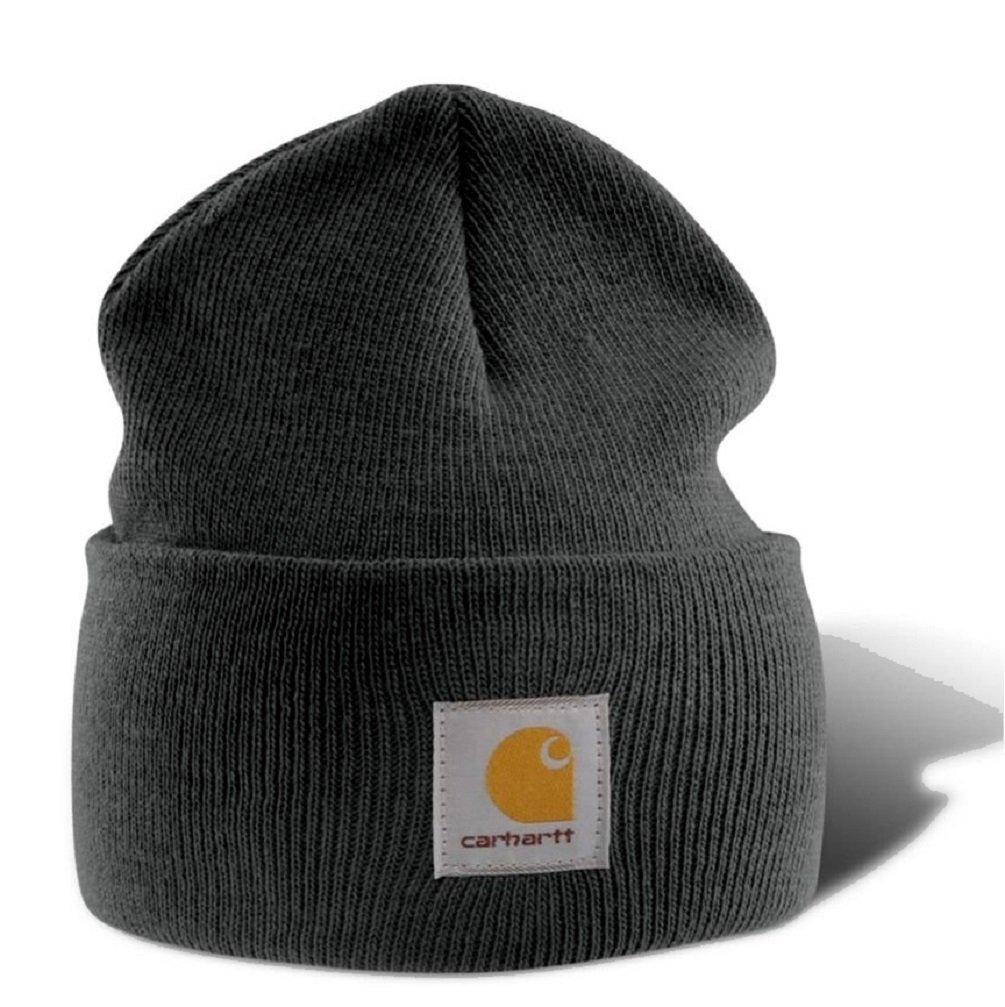 Carhartt A18 Beanie - Cappello invernale, berretto per lui e per lei,100%Polyacryl(dralon),colori diversi (Nero)