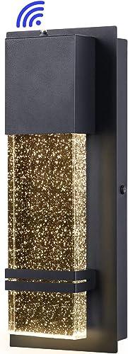 PARTPHONER Integrated LED Wall Lantern Modern Wall Sconce Dusk to Dawn Outdoor Light Fixtures Wall Mount Porch Light 12W Lumen 3000K