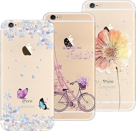 Yokata Cover per iPhone 6S Plus/iPhone 6 Plus, Custodia Silicone TPU Trasparente con Disegni Cover Morbida Ultra Sottile Slim Antiurto Protettiva Case ...