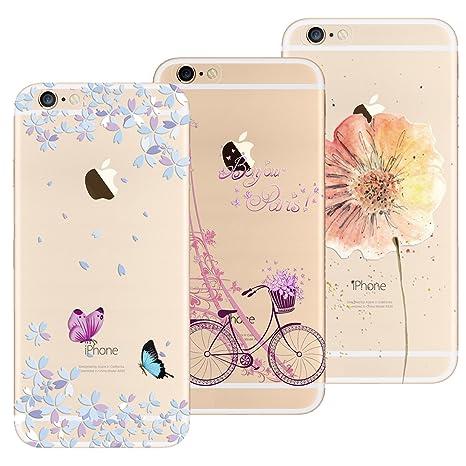 3x coques iphone 6 fleur