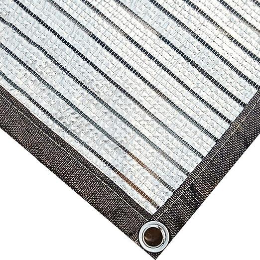 MWPO Lona con 75% de Tela de Sombra Sun Shade Cloth con Ojales para Cubierta de pérgola Toldo, Papel de Aluminio Plateado (tamaño: 2x5m): Amazon.es: Hogar