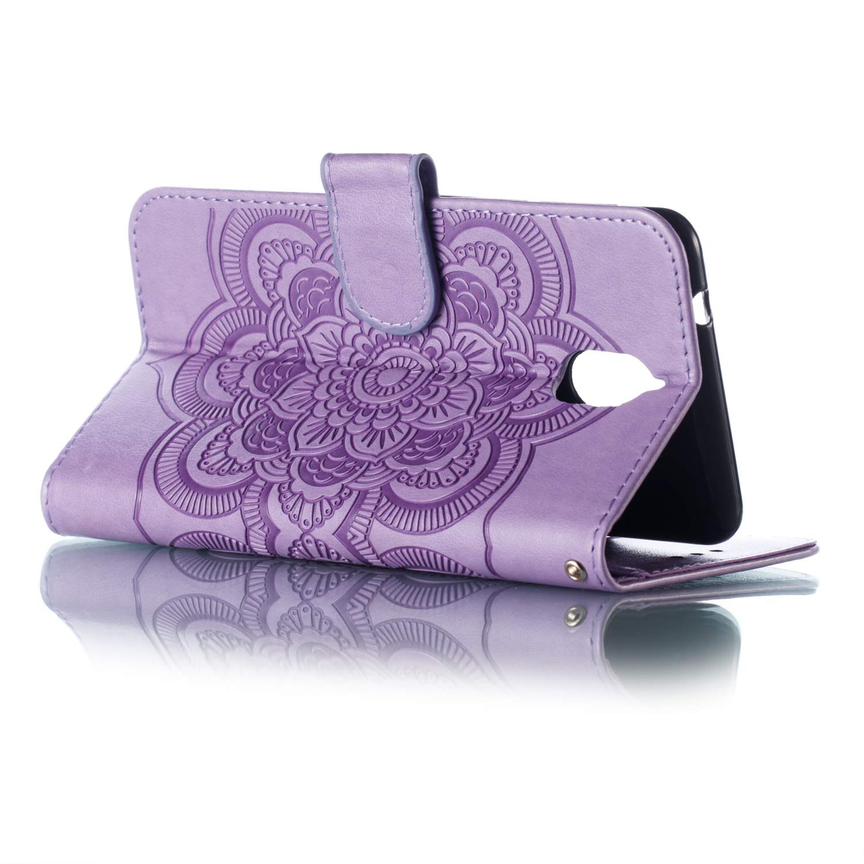 Huphant Compatible for Schutzh/ülle Nokia 3.1 H/ülle Blume Embossed Wallet Flip H/ülle Nokia 3.1 Brieftasche Handyh/ülle Klapph/ülle St/änder Kartenf/ächer Magnet-Rot