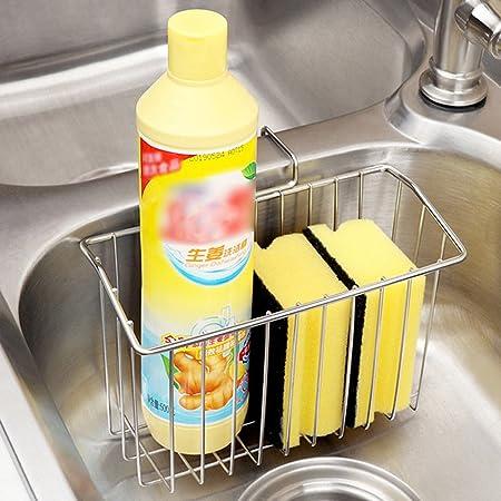 Esponja soporte, fregadero Caddy acero inoxidable cepillo de jabón ...