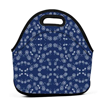 Amazon.com: YAIC ULI Blue Bicycles Portable Carry Insulated ...