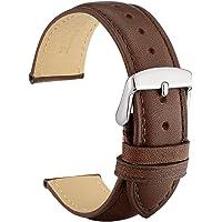 WOCCI Correas de Reloj de Cuero Vintage con Hebilla de Plata Inoxidable, Correa de Repuesto 14mm 16mm 18mm 19mm 20mm…