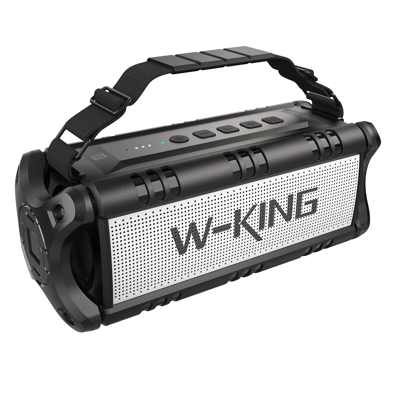 W-KING 50W Wireless Bluetooth Speakers & 8000mAh Battery Power Bank - Outdoor Portable Waterproof TWS Speaker, Powerful Rich Bass Loud Clear Stereo Sound for Parties, Indoor & Outdoor (Black) by W-KING