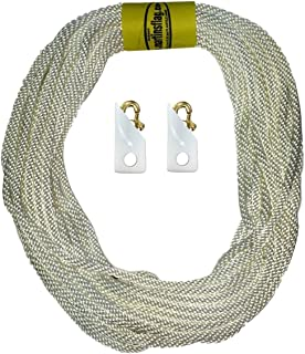"product image for Martin's Flag 5/16"" Flagpole Rope with Brass Snaps and Noise Cancelling Snap Covers, Available (60 Feet)"