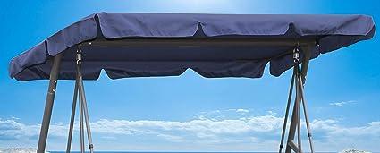Ersatzdach Universal Hollywoodschaukel  Grau Ersatz-Bezug Sonnendach Dachplane