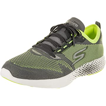 mini Skechers Mens Go MEB Razor 2 Charcoal/Lime 10.5 D - Medium
