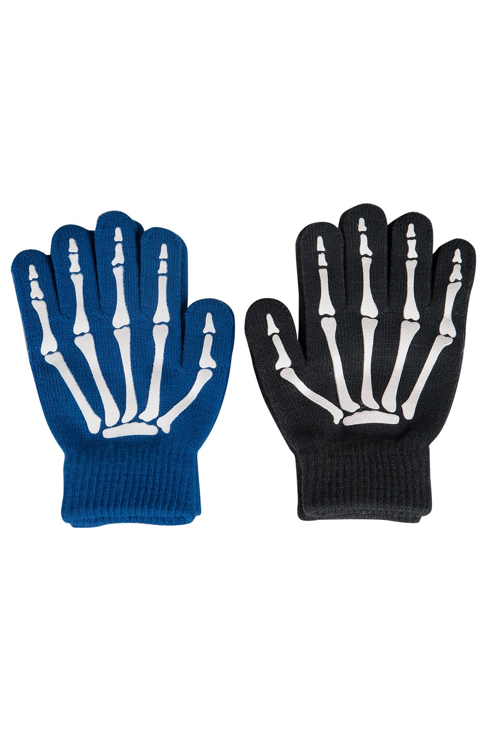 Mountain Warehouse Magic Grippi Kids Gloves - 2 Packs - Stretch Knit with Textured Palm - One Size Fits All - Ideal for Kids When Outdoors in Winter 022067014001
