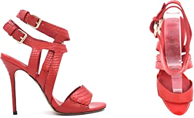 red high heel sandals shoes