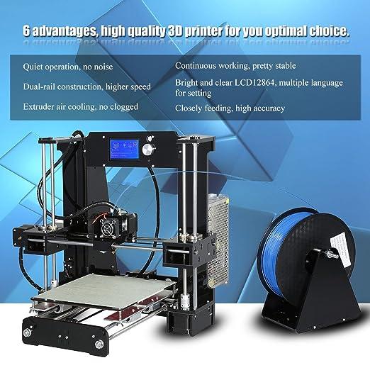 Impresora 3D, kit de impresora 3D ANET A6 con pantalla LCD (admite ...