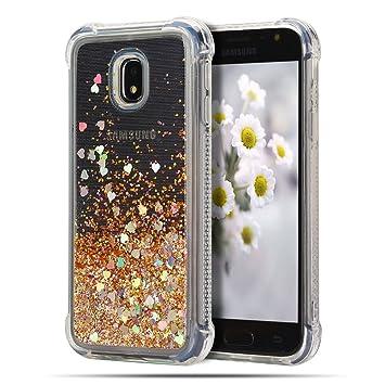 Caselover Funda para Samsung J7 2017, 3D Bling Silicona TPU Arena Movediza Lentejuelas Carcasa para Samsung Galaxy J7 2017 J730 Glitter Líquido ...