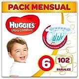 Huggies Ultra Comfort - Pañales Talla 6 (15-30 kg) - 102 Pañales
