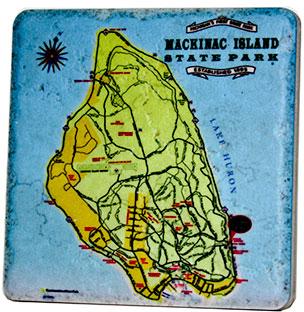 Mackinac Island State Park Map Coaster