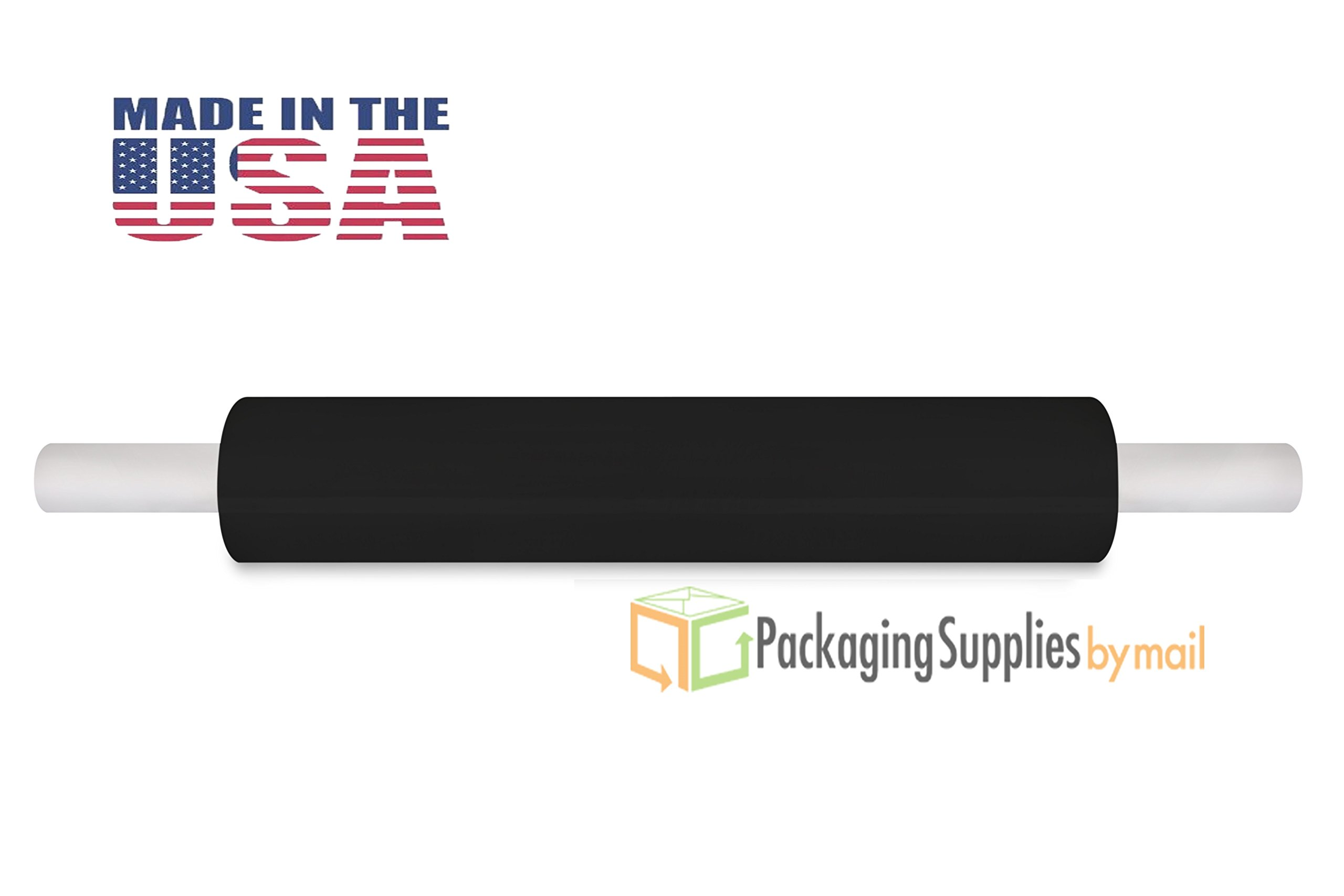 20'' 80 Ga 1000' Black Extended CORE Banding Stretch WRAP Film 1 ROLL