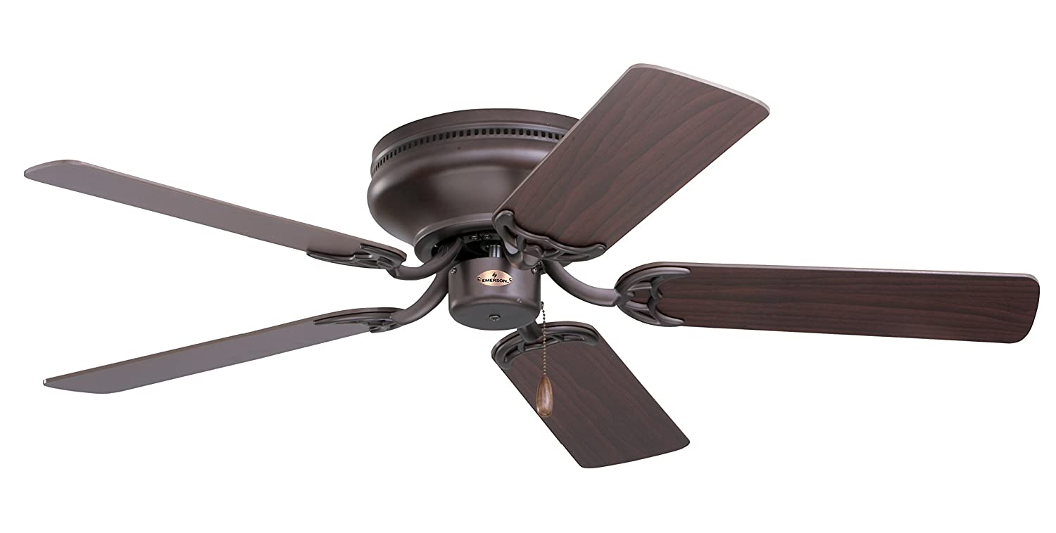 Emerson ceiling fans cf804sorb snugger low profile hugger ceiling emerson ceiling fans cf804sorb snugger low profile hugger ceiling fan 42 inch blades light kit adaptable oil rubbed bronze finish close to ceiling aloadofball