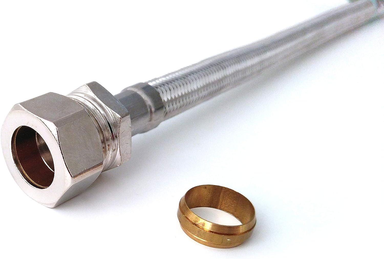 Xcel Home/™ Pair of 900mm M12 x 15mm Compression Monobloc Tap Connectors Kitchen Basin Flexi Pipes