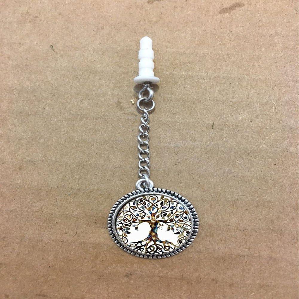 Vintage Ladies 'Lune DUT Branchez l'arbre de vie Pendentif en verre, bénédiction prise de la poussière
