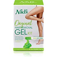 Nad's Wax Kit Gel - Wax Hair Removal For Women - Body+Face Wax - All Skin Types - At Home Waxing Kit With 6 Oz Wax Gel…