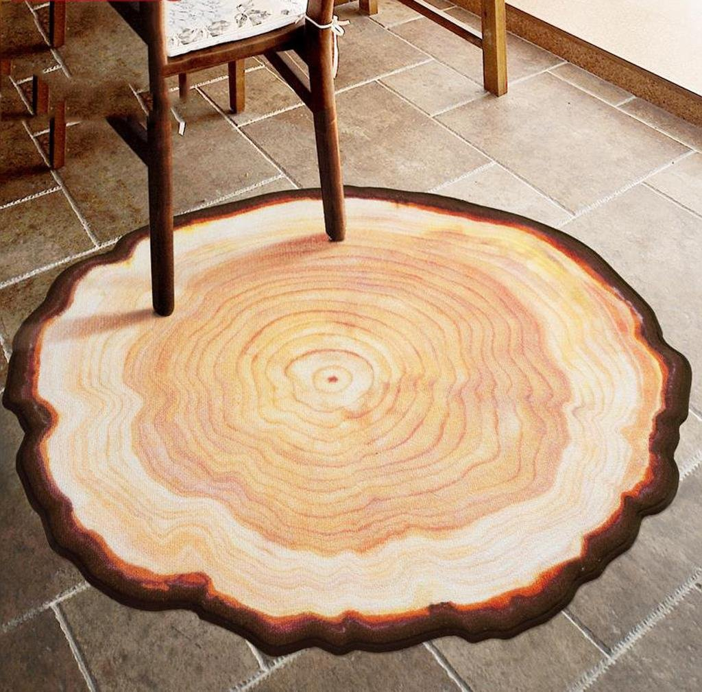 80*80cm Tappeto rotondo creativo rilievo da tavolino da salotto della camera da letto coperta del comodino 1 tappetino da corteggiamento della sedia del computer portatile della famiglia