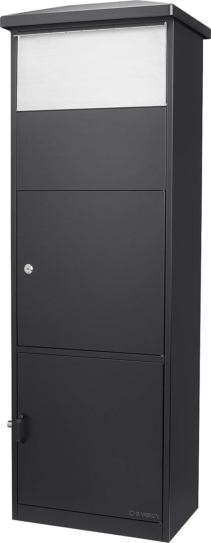 Barska スチール 自立式 フロア ロック可能 大きなドロップスロット メールボックス 小包用コンパートメント付き 10.43 in x 16.14 in x 51.97 in  ブラック B07NZYMDQ5