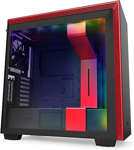 NZXT H710i - Caja PC Gaming Semitorre ATX - Panel frontal E/S Puerto USB de Tipo C -