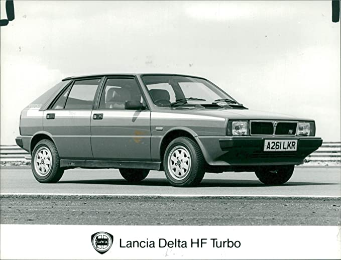 Vintage photo of Lancia Delta HF Turbo