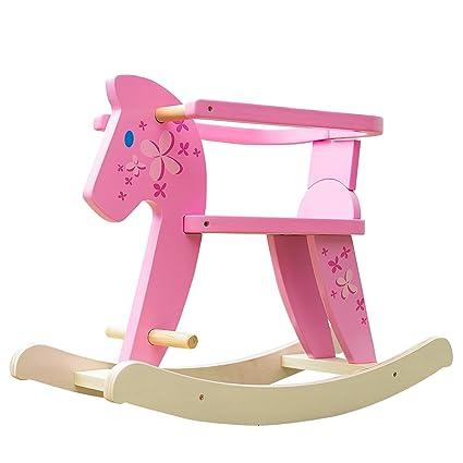 Cavallo Dondolo Per Bambini.Labebe Cavallo Dondolo Legno Sedia Dondolo Bambini Con Protezione Di Sicurezza Rimovibile Per Bambini 6 36 Mesi Giochi Cavalcabili Bambini Dondolo