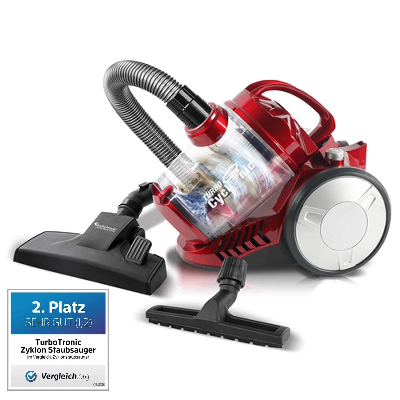 900 W turbot Electronic - Aspirador ciclónico, Genera > 19 kPa absorción, 2,5 litros, filtro HEPA, sin bolsa rojo: Amazon.es: Hogar